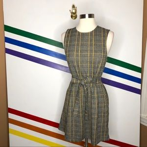 NEW Urban Outfitters Plaid tie waist dress